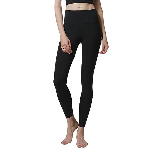 02ef0c0547e37 newlashua High Waisted Compression Pants Workout Sports Yoga Athletic  Leggings S Black