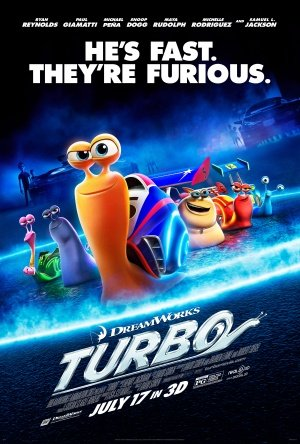 TURBO - 27x40 D/S Original Movie Poster One Sheet 2013 Animation