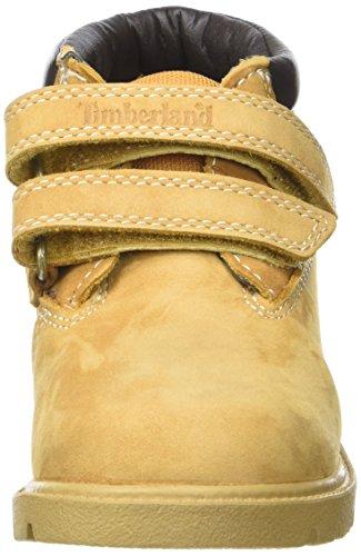Timberland Double Strap H&l Chukkawheat Nubuck, Botines de Senderismo para Bebés Amarillo (Wheat Nubuck)