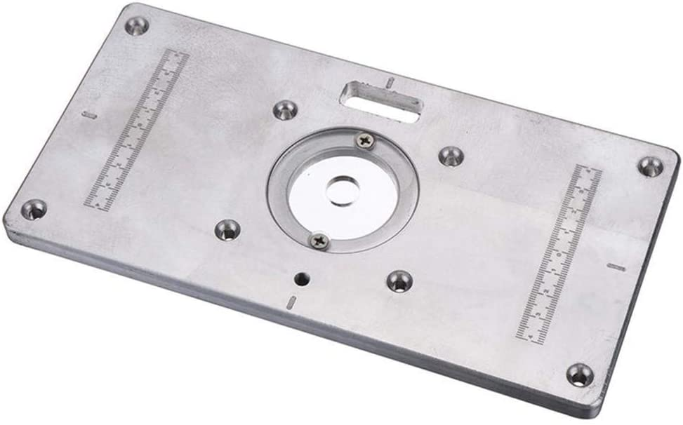 Ctghgyiki Aluminum Router Table Insert Plate for Woodworking Engraving Machine 235mmx118mm Woodworking Tools
