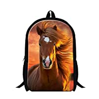 GIVE ME BAG Generic Fashion Adult Horse Backpack College Students Bookbags