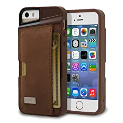 iPhone 5s Wallet Case - Genuine Leather - Q Card Case for iPhone 5/5s by CM4 - Brown Leather