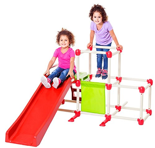 New Lil' Monkey Olympus Climber GYM Foldable Frame Structure With Slide Indoor And Outdoor, Multi