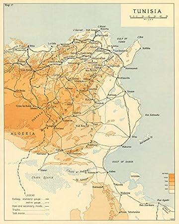 Tunesien Karte.Amazon De Tunesien Betrieb Taschenlampe Tunesien 1942