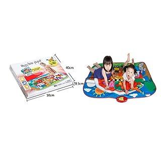 QXMEI Tappeto da Ballo per Bambini con Tappetino da Ballo, Coperta da Ballo per Bambini 145 * 110 Cm