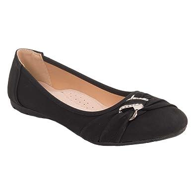 5828fec8ff5 Ballerines noir simili cuir grandes pointures femme 41 42 43 44 semelle  intérieure cuir   boucle