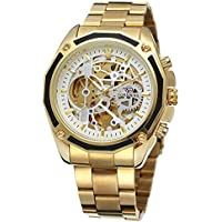 Relógio Masculino Mecânico Automático Luxo Original (Dourado)