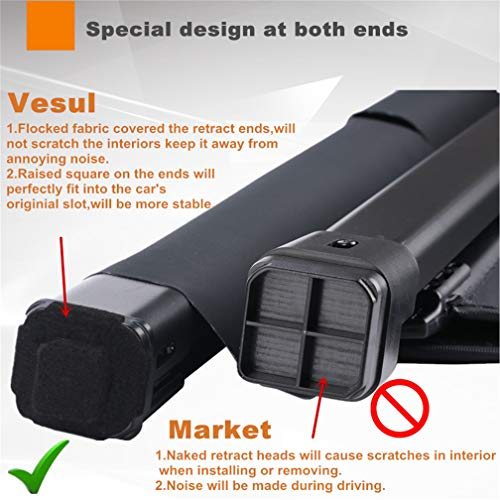 Vesul Black Tonneau Cover Rear Trunk Cargo Luggage Security Shade Compatible with Toyota RAV4 2013-2018