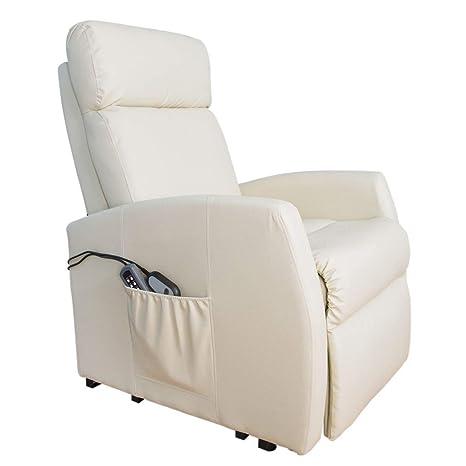 Poltrona Reclinabile Massaggiante.Cecotec Poltrona Relax Massaggiante Levanta Persone Compact Funzione Calore 5 Programmi 3 Tocco 8 Motori Doppio Telecomando Ruote Finta Pelle