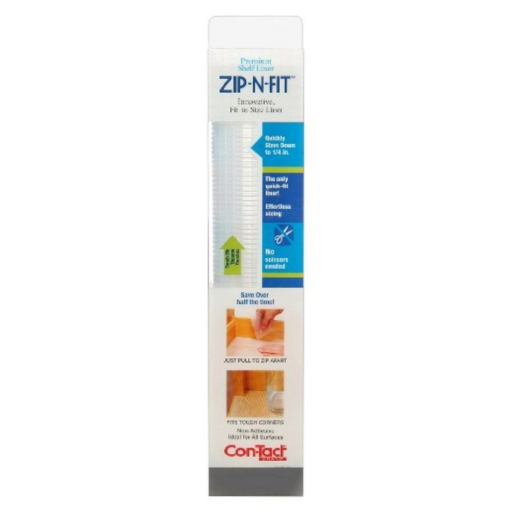Amazon.com: Con-Tact Brand Zip-N-Fit Solid Grip Non-Adhesive Non ...
