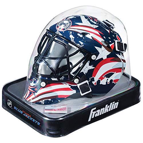 Franklin Sports NHL League Logo Columbus Blue Jackets Mini Goalie - Hockey Columbus Blue Team Jackets