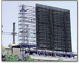 RK Heavy Duty Black Scaffold Debris Netting, Fire retardant 8\' x 150\'