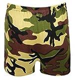 Rimi Hanger Children Plain Stretchy Neon Hot Pants Girls Dance Gym Lycra Party Tutu Shorts Camouflage 7-8 Years