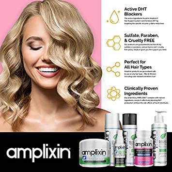 Amplixin Stimulating Shampoo – Healthy Hair Growth Hair Loss Prevention Treatment For Men Women With Thinning Hair – Sulfate-Free Dht Blocking Formula, 8Oz