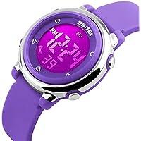 Kids LED Digital Unusual Electrical Luminescent Silicone Outdoor Sport Waterproof Alarm Children Dress Wrist Watch...