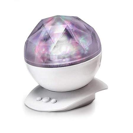 Lilongp - Lámpara de Noche con Reproductor de música, 8 ...