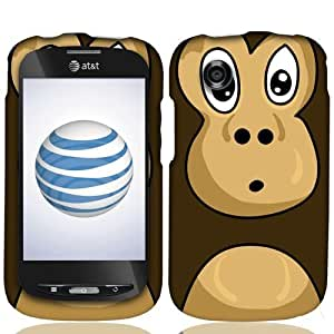Hard Shell Protective Snap-On Case Cover For ZTE Avail N760 Z990 - Cute Monkey