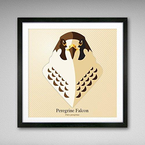 Peregrine Falcon Graphic Icon Print