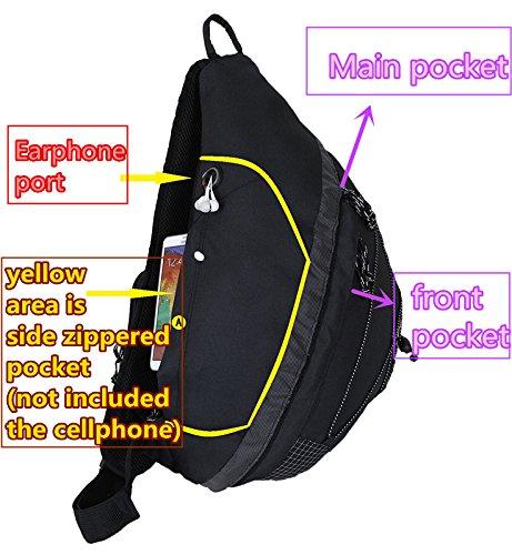 Strap Sling Bag Bottle Black Shoulder Audio Single 20�� amp; HBAG Pocket Backpack xgZ5qIq