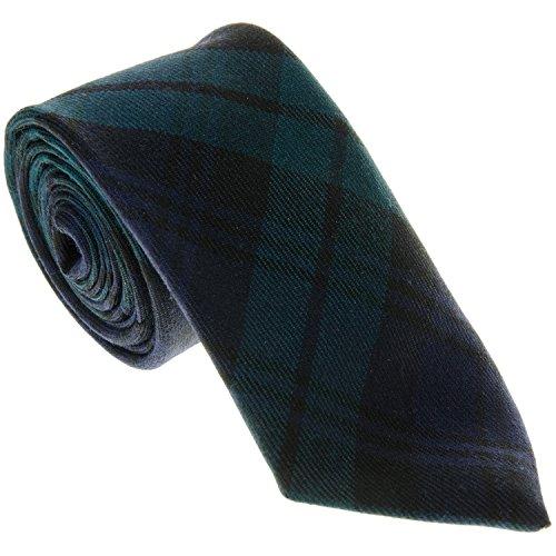 Wool Tartan Tie - 100% Wool Tartan Tie - Blackwatch