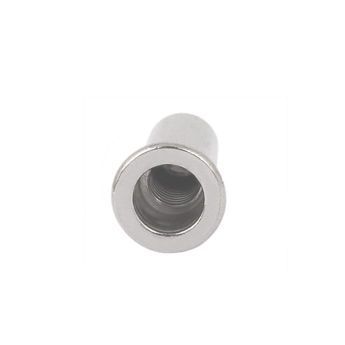 Aexit M5x18.5mm 304 acero inoxidable recto moleteado extremo cerrado remache model: X8226IV-2227YC tuerca sujetador 20pcs