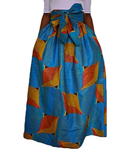 YiLianDa Jupe Longue de Plage Elgante Classique Femme Long Skirt Taille Elastique Comme Image