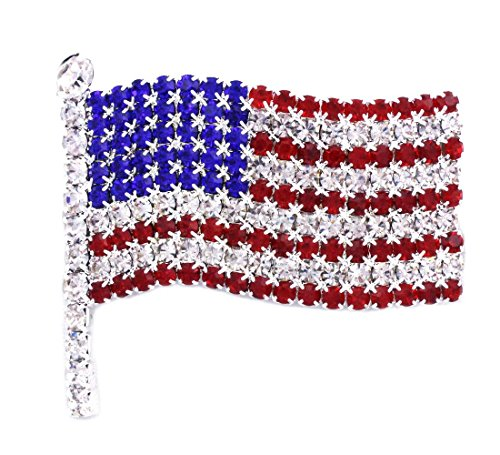 soulbreezecollection American Flag Star USA Pin Brooch 4th of July Independence Day Jewelry (Large)