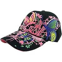 BCDshop Butterfly Flower Baseball Cap Women Lady Duck Tongue Hat Anti Sai Cap