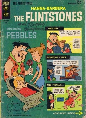 Henry Corden & Jean Vander Pyl Dual Signed 1963 Flintston...