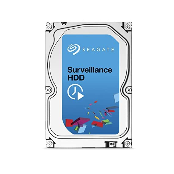 Seagate Surveillance HDD 1TB ST1000VX0001 6-Gb/s Internal Hard Drive 3 Ideal for surveillance DVRs and NVRs Capacities up to 8TB support systems with 8+ drives and 64 cameras per drive Precision-tuned for high write surveillance workloads