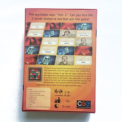 Autumn Water Confidential Action Codenames Board Game Family Friend Party Game Card Game