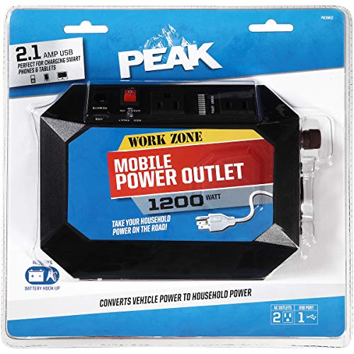 PeaK Mobile Power Outlet, 1200 Watt