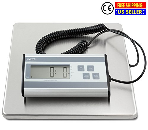 Royal Digital Postal Scale (User Friendly Smart Weight Digital Shipping Postal Scale with Durable Stainless Steel Large Platform and Long Extendable Cord Capacity 440 lbs | Ideal for Shipping Mailing Weighing 6 oz Readability)