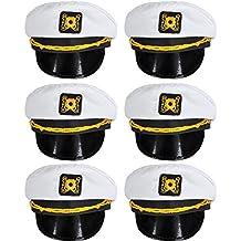 Bottles N Bags White Nautical Captain Sailing Hats