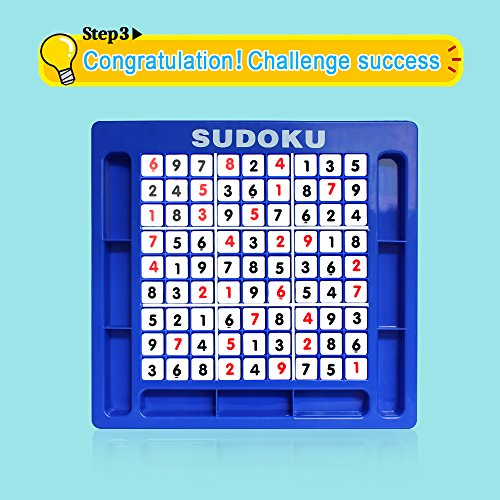 JUNSHEN Plastic Sudoku Puzzle Board Games Classical Puzzle Toys Brain Digital Puzzle Toys for Kids and Adults by JUNSHEN (Image #4)