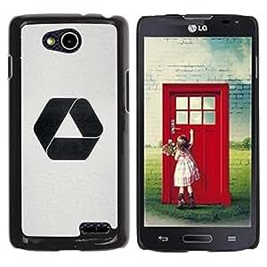 YOYOYO Smartphone Protección Defender Duro Negro Funda Imagen Diseño Carcasa Tapa Case Skin Cover Para LG OPTIMUS L90 D415 - recicle el logotipo negro