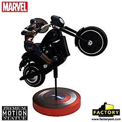 Factory Entertainment Marvel Comics Captain America Premium Motion Statue