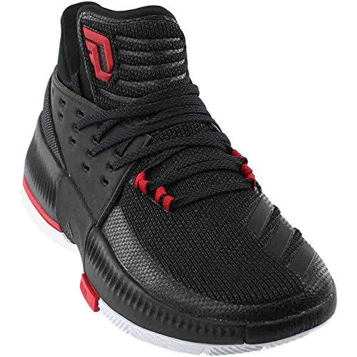 best sneakers 1cd83 96993 Galleon - Adidas Dame 3 Shoe Mens Basketball 8.5 Utility  Black-Black-Scarlet