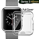 Apple watch series 3 case 42mm, TIRIO iwatch 3 Case TPU All-around 0.3mm Ultra-thin Soft High Transparency Full Cover for New Apple Watch Series 3(2017)