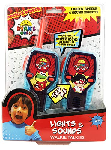 Ryans World FRS Walkie Talkies for Kids with Lights and Sounds Kid Friendly Easy to Use by eKids (Image #4)