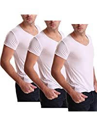 Athletic Men's 3 Pack ComfortSoft Modal Muscle T-Shirt,V Neck Undershirts
