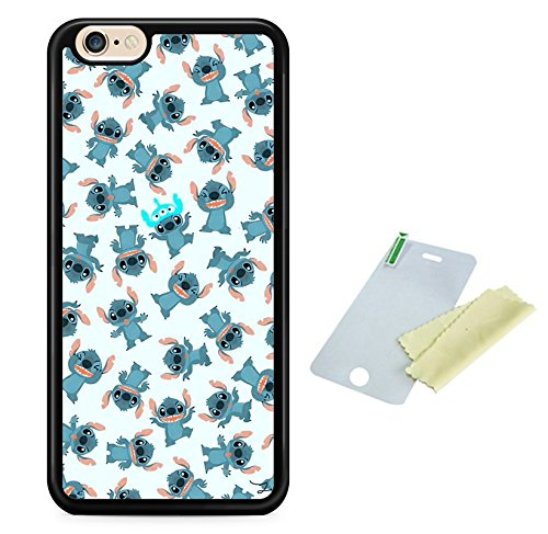 Coque silicone BUMPER souple IPHONE 7 - LILO & STITCH mignon motif 3 DESIGN case+ Film de protection OFFERT