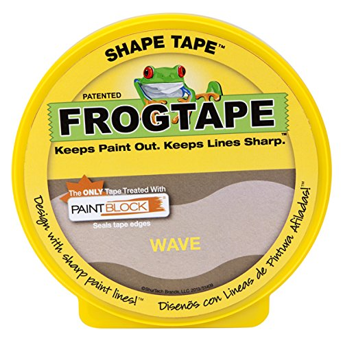 FrogTape 282547 Shape Tape Painting Tape, Wave Design, 1.81-Inch x 25-Yard Roll by Duck