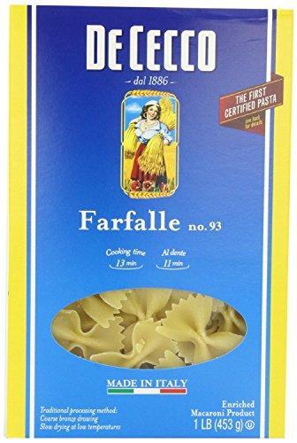 Dececco Farfalle Pasta No.93 16 Oz -Pack of 20