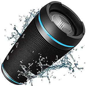 TREBLAB HD77 – Ultra Premium Bluetooth Speaker – Loud 360° HD Surround Sound, Wireless Dual Pairing, Best 25W Stereo, Loudest Bass, 20H Battery, IPX6 Waterproof, Sports Outdoor, Portable Blue Tooth