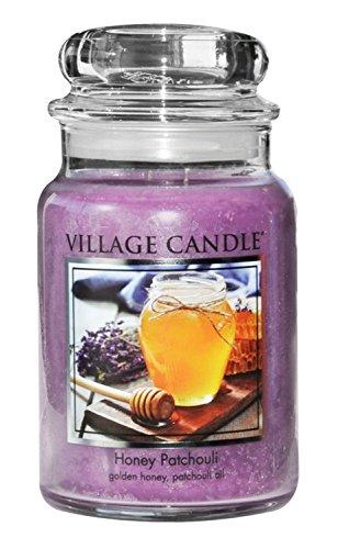 Patchouli Honey - Village Candle Honey Patchouli 26 oz Glass Jar Scented Candle, Large,