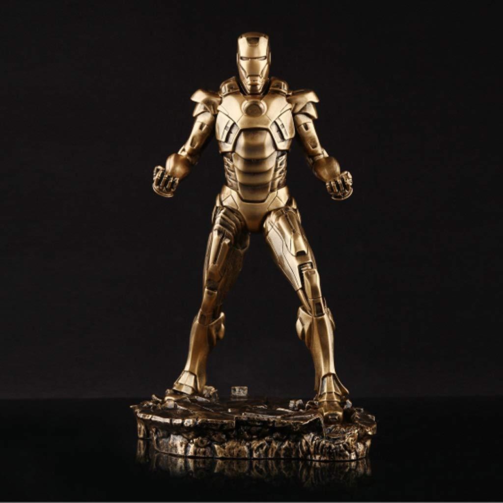 or  Qivor Avengers Iron Man MK7 Modèle 30cm Statue Réaliste Décoration Anime Exquise Décoration (Couleur   argent)