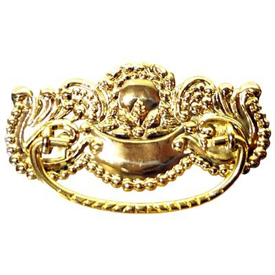 P-26 VICTORIAN STAMPED BRASS DRAWER PULL HANDLE ANTIQUE CABINET, DESK OR  ANY VINTAGE - P-26 VICTORIAN STAMPED BRASS DRAWER PULL HANDLE ANTIQUE CABINET