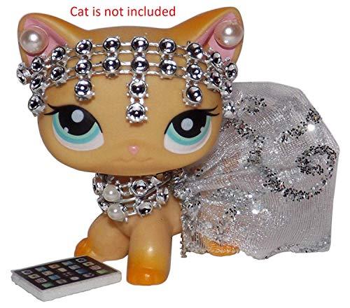 Littlest Pet Shop Bedding - Noa Store Littlest Pet Shop Clothes LPS Accessories (Silver Princess)