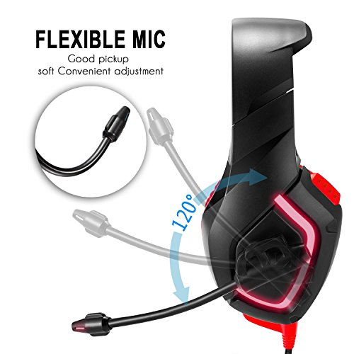 Over Ear Gaming Headphones for PC//MAC//PS4//Xbox One,Black YSM Gaming Headsets Stereo Xbox One Headset Wired PC Gaming Headphones with Noise Canceling Mic